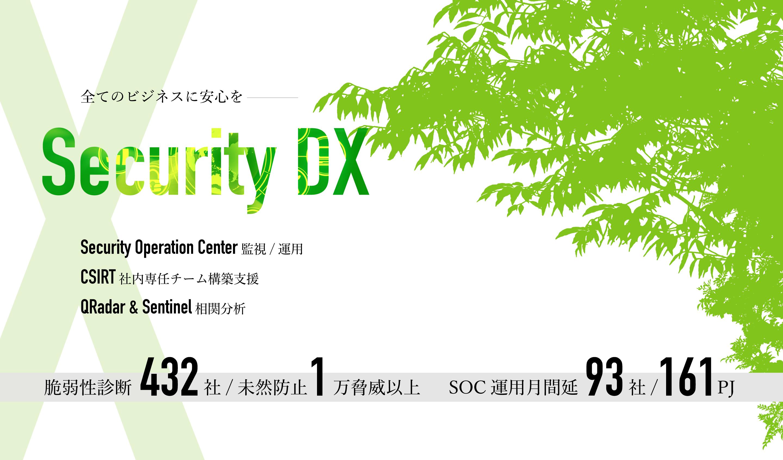 全てのビジネスに安心を − SECURITY DX
